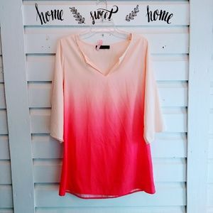 Womens Honey Punch Ombre Top Size M